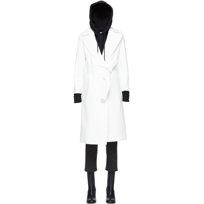 A_PLAN_APPLICATION A-Plan-Application White Rubberized Rain Coat
