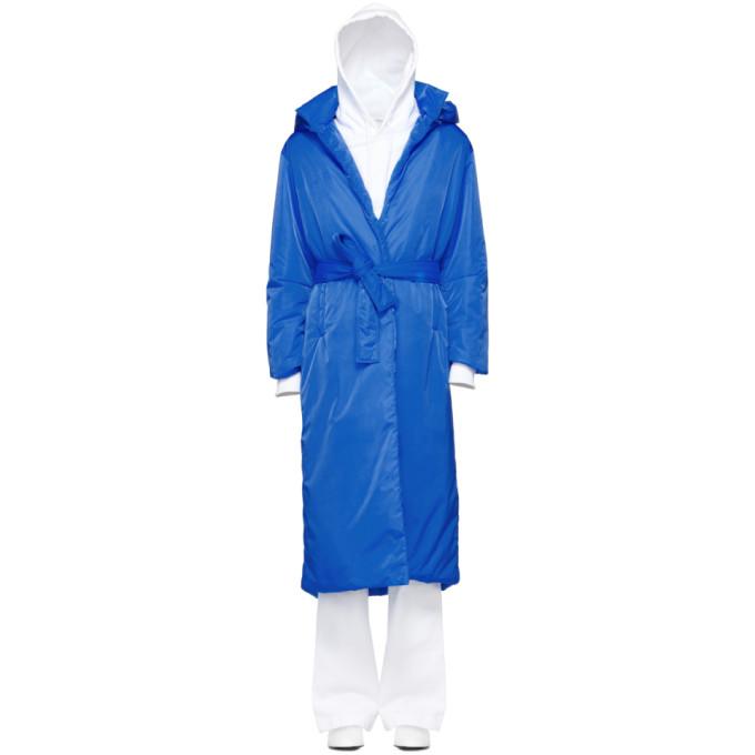 A_PLAN_APPLICATION A-Plan-Application Blue Long Puffer Coat