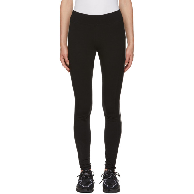 Y-3 Black 3-Stripe Leggings, Black/Corew