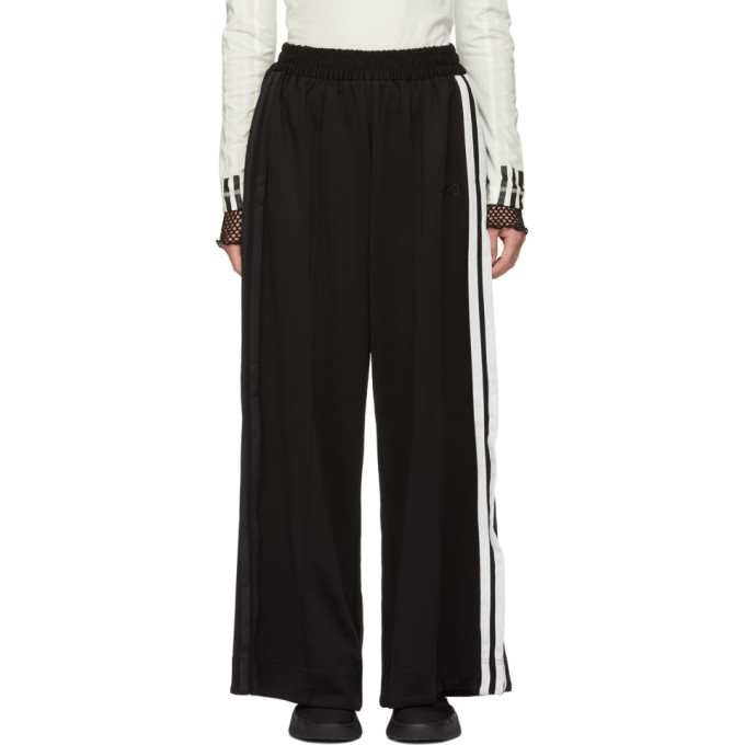 Y-3 Black 3-Stripe Track Pants, Black/Core