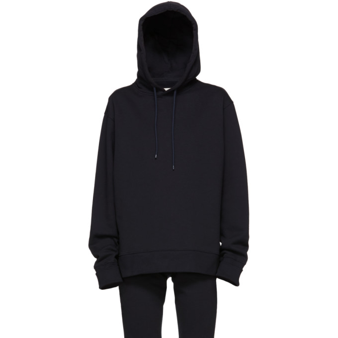 A_PLAN_APPLICATION A-Plan-Application Navy Oversized Hoodie, Blue