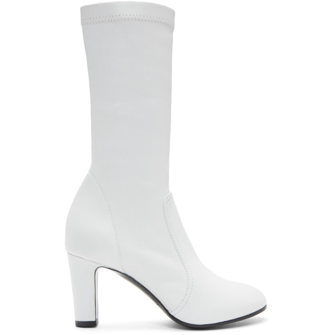 A-Plan-Application White Low Stretch Boots