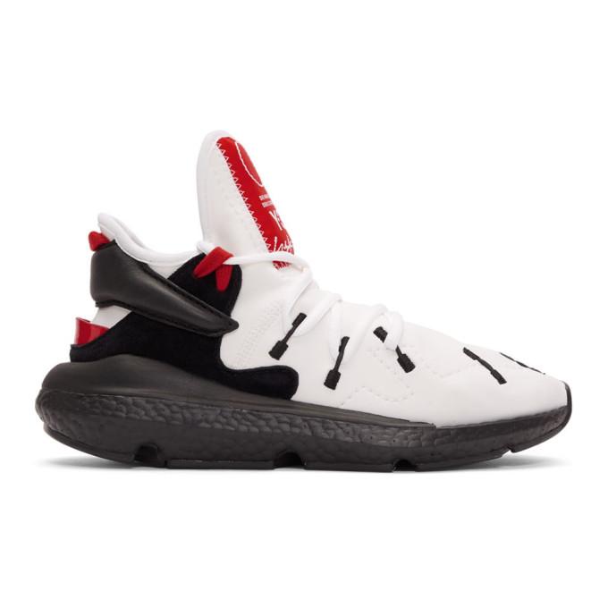 Y-3 White & Black Kusari II Sneakers