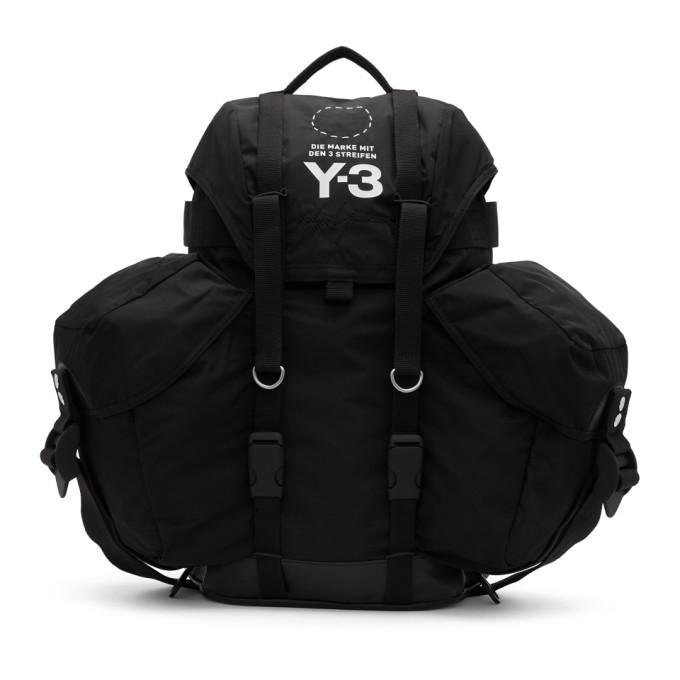 Y-3 Black Utility Backpack