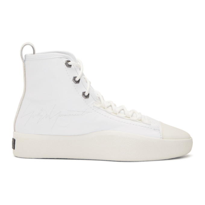 Y-3 White Bashyo II Sneakers