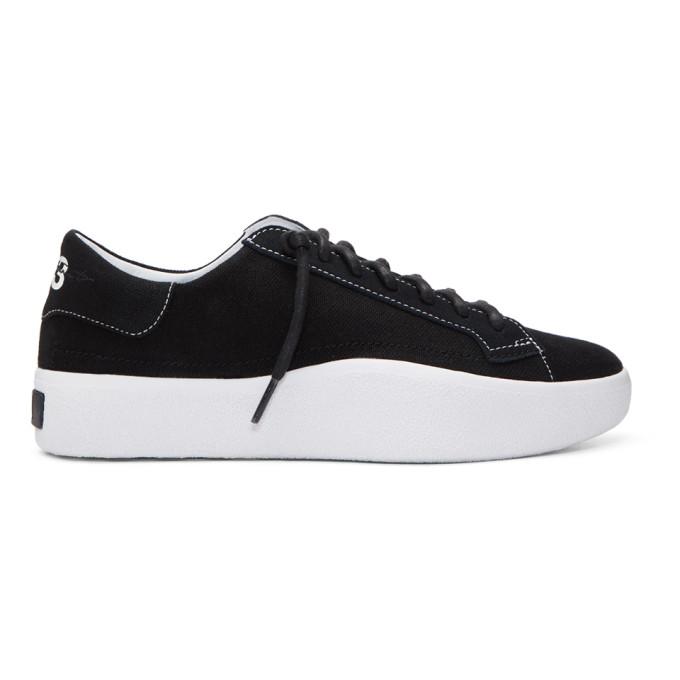 Y-3 Black Tangutsu Lace Sneakers