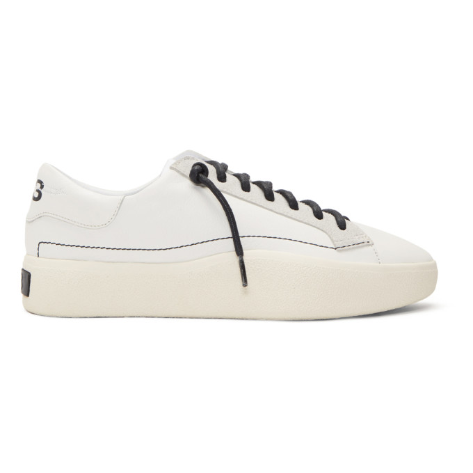 Y-3 White Tangutsu Lace Sneakers