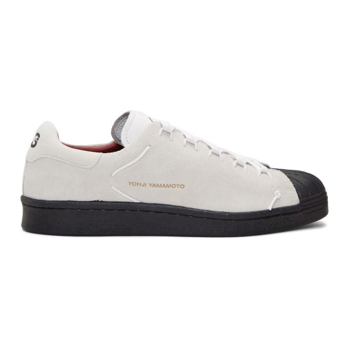 Y-3 White & Black Superknot Sneakers