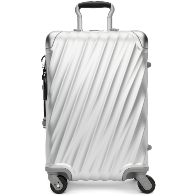 Tumi Silver Aluminum International Carry-On Suitcase