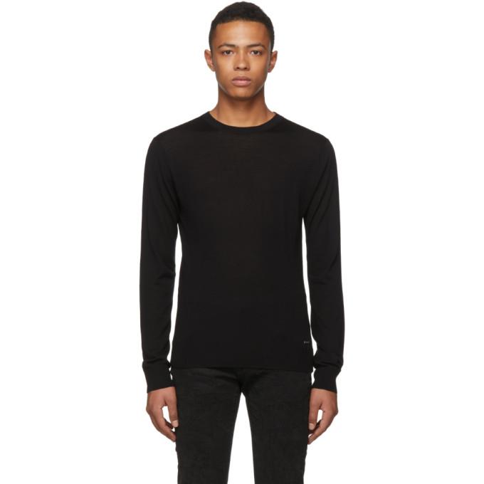 Dsquared2 Black Wool Classic Crewneck Sweater