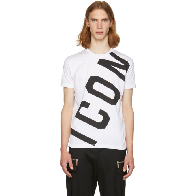 Dsquared2 White Big Icon T-Shirt