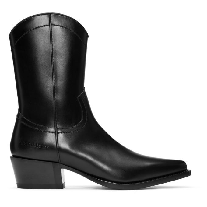 Dsquared2 Black Arizona Boots