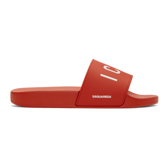 Dsquared2 Red Dune 'Icon' Slides