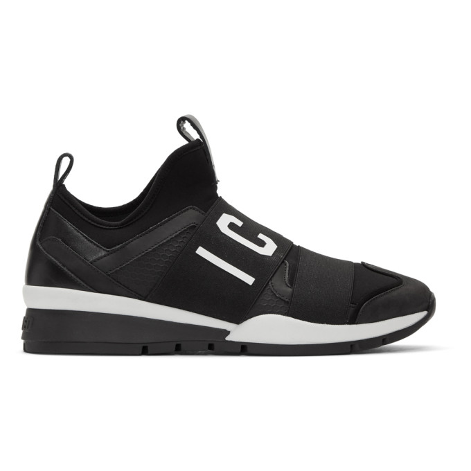 Dsquared2 Black Neoprene 'Icon' Sneakers