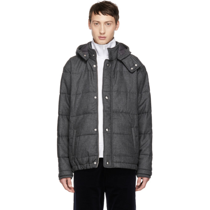 BAND OF OUTSIDERS Band Of Outsiders Grey Verbier Padded Jacket in 8100.V.Gry