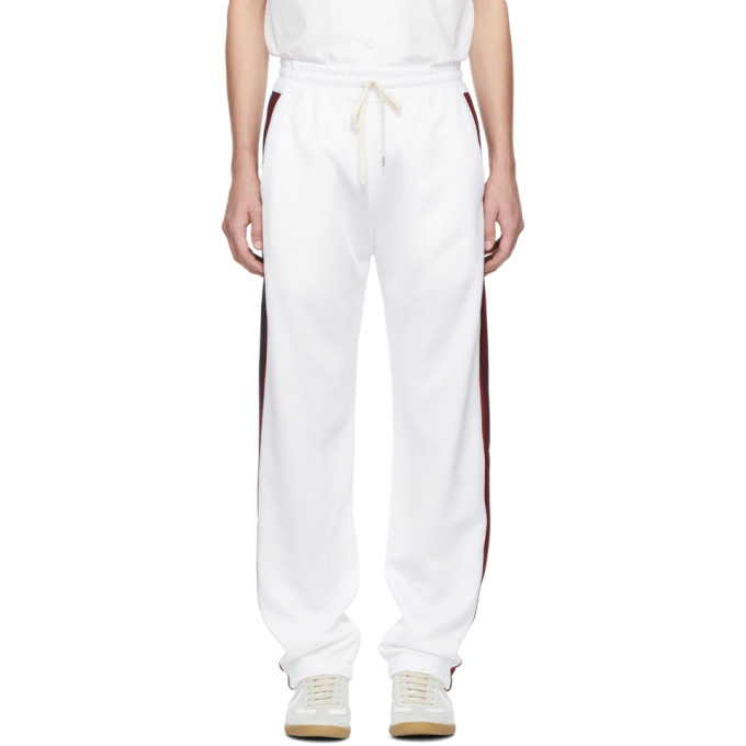 BAND OF OUTSIDERS Band Of Outsiders White Aspen Tech Track Pants in 9000.Wht