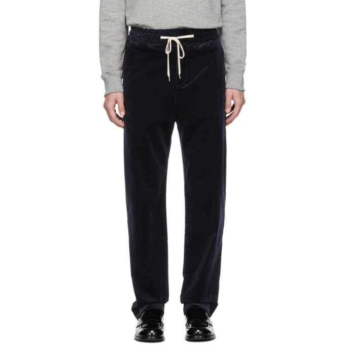 BAND OF OUTSIDERS Band Of Outsiders Navy Vintage Corduroy Trousers in 2502.Navy