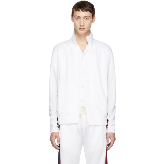 BAND OF OUTSIDERS Band Of Outsiders White Logo Track Jacket in 9000.Asp.Wh