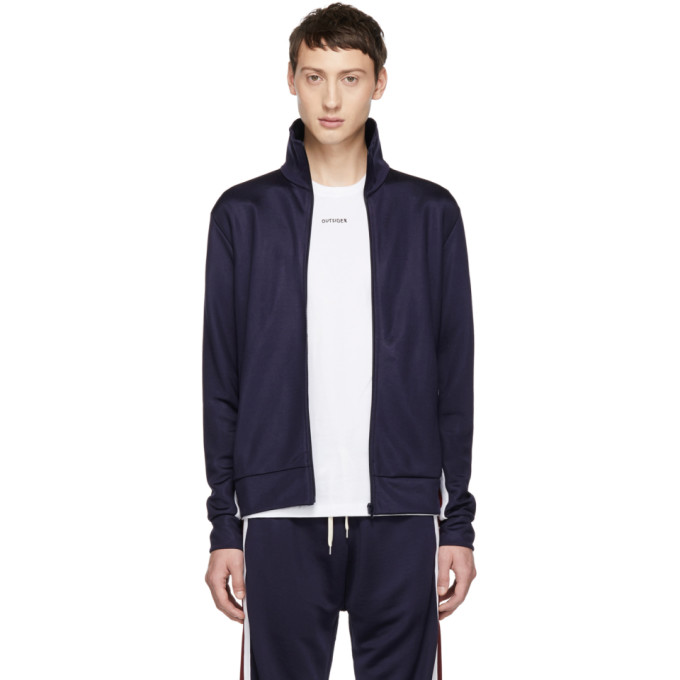 BAND OF OUTSIDERS Band Of Outsiders Navy Logo Track Jacket in 2502.Navy