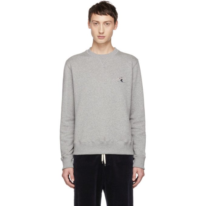 BAND OF OUTSIDERS Band Of Outsiders Grey Whistler Skiier Sweatshirt in 8506.Gry