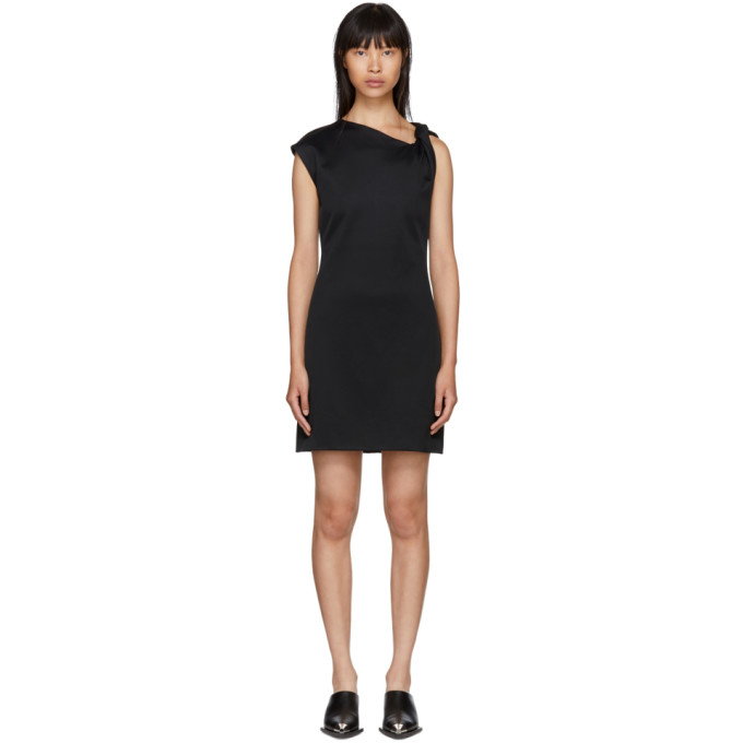 Helmut Lang Black Twist Tank Dress