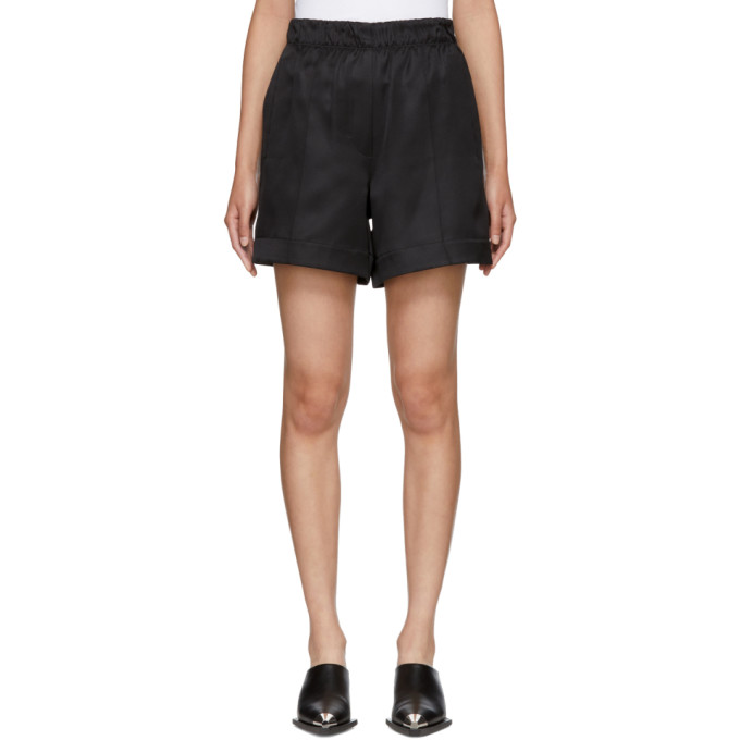 Helmut Lang Black Pull-On Shorts