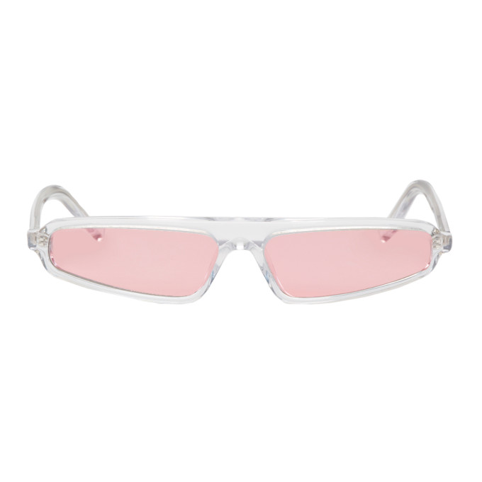 NOR Nor Transparent And Pink Phenomenon Micro Sunglasses in Transp/Rose
