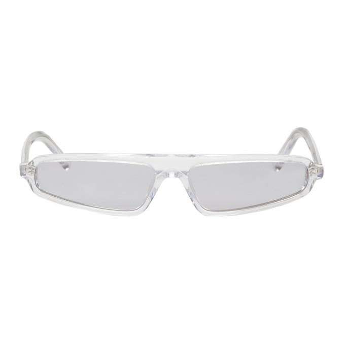 NOR Nor Transparent And Grey Phenomenon Micro Sunglasses in Transp/Grey