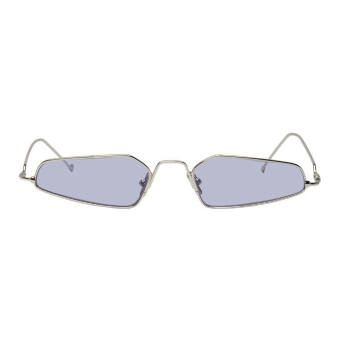 NOR Nor Silver And Purple Dimensions Sunglasses in Silver/Purp