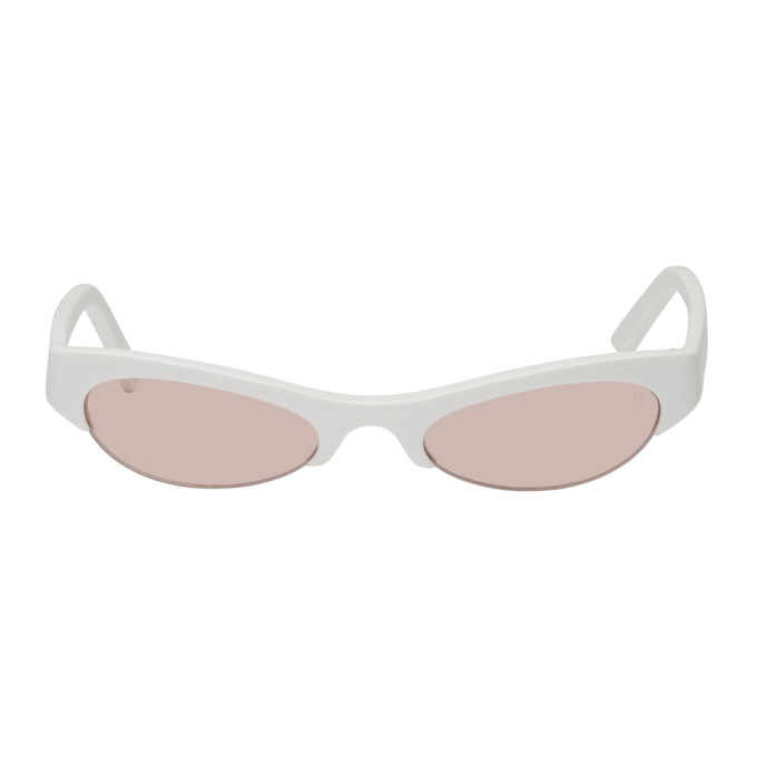 NOR Nor White And Pink Luna Sunglasses in White/Pink