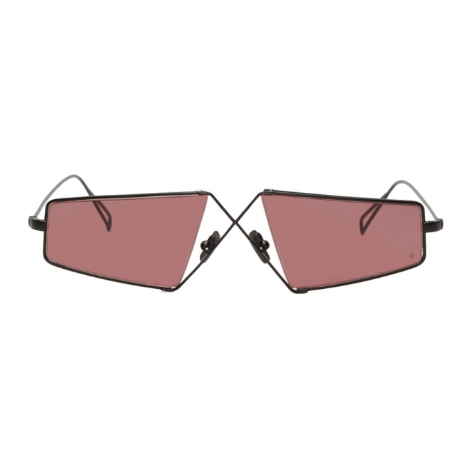 NOR Nor Black And Red Telepathic Micro Sunglasses in Black/Amber