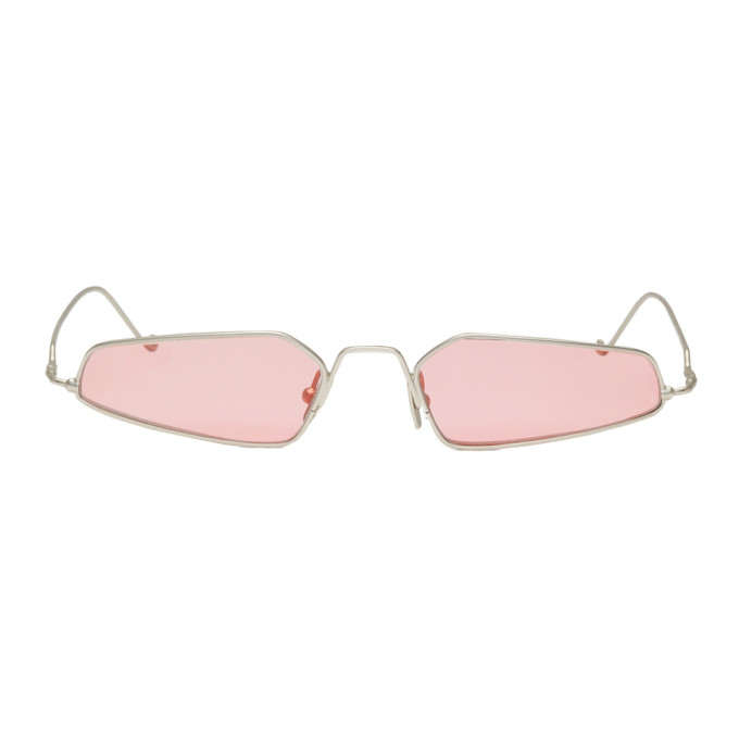 NOR SILVER AND PINK ALCHEMY MICRO SUNGLASSES