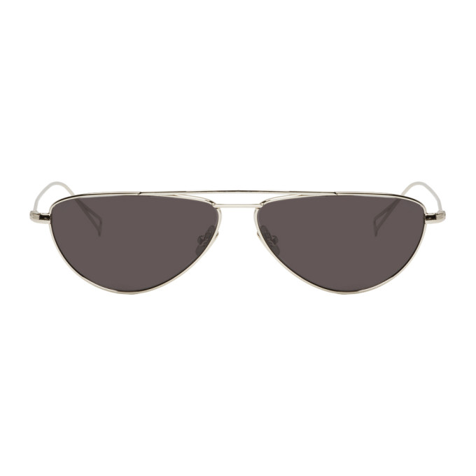 NOR SILVER AND BLACK TRANSMISSION AVIATOR SUNGLASSES