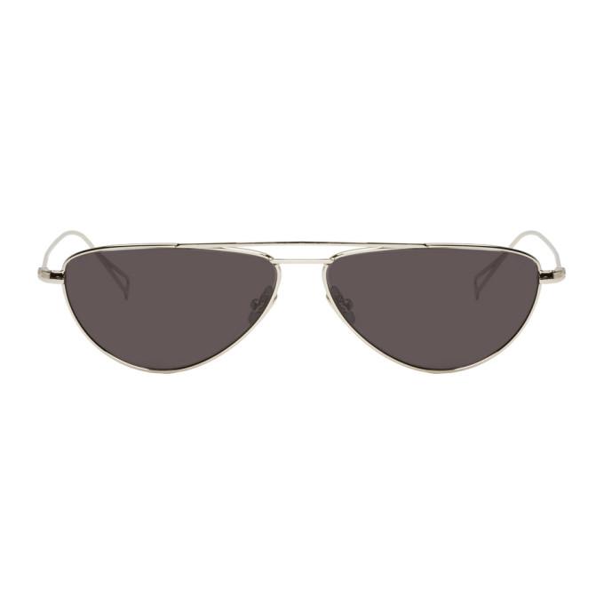 NOR Nor Silver And Black Transmission Aviator Sunglasses in Silver/Blk