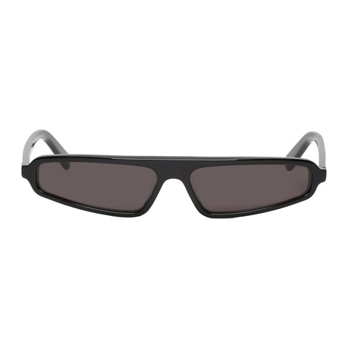NOR Nor Black Phenomenon Micro Sunglasses in Black/Black
