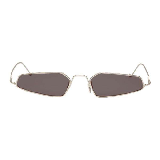 NOR Nor Silver And Black Dimensions Micro Sunglasses in Silv/Black