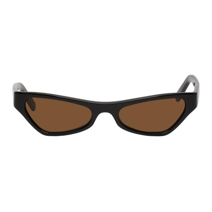 NOR Nor Black And Brown Venus Sunglasses in Blkbrn