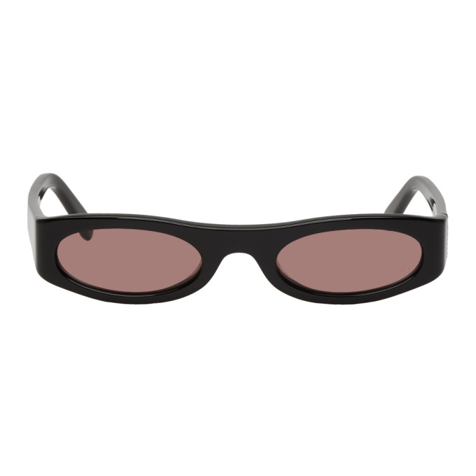 NOR Nor Black And Red Transmission Sunglasses in Blackamber