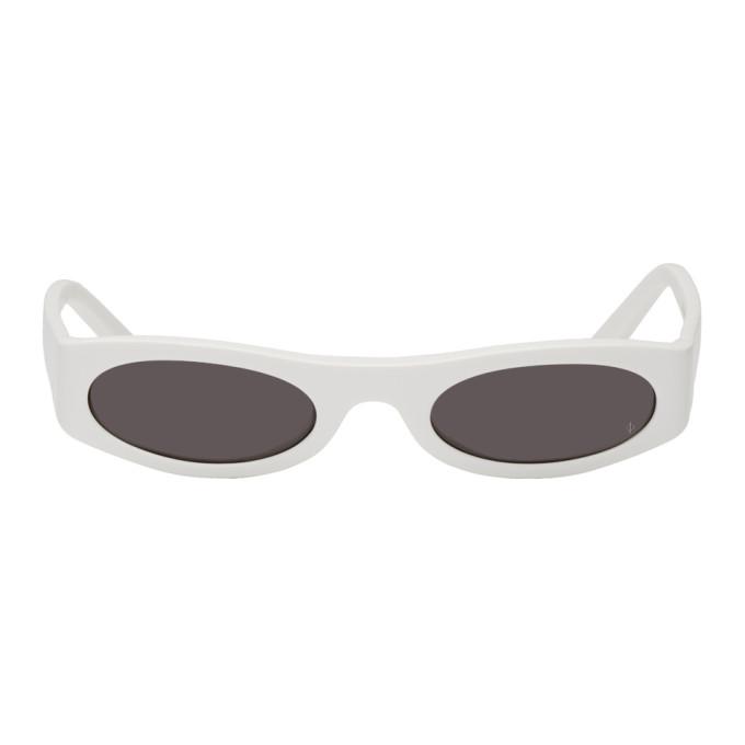 NOR Nor White And Black Transmission Sunglasses in Whiteblk