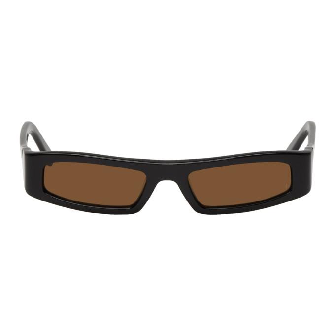 NOR Nor Black Continuum Micro Sunglasses in Blackblack