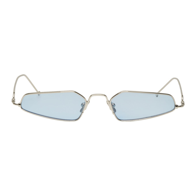 NOR Nor Silver And Blue Dimensions Sunglasses in Silverblu