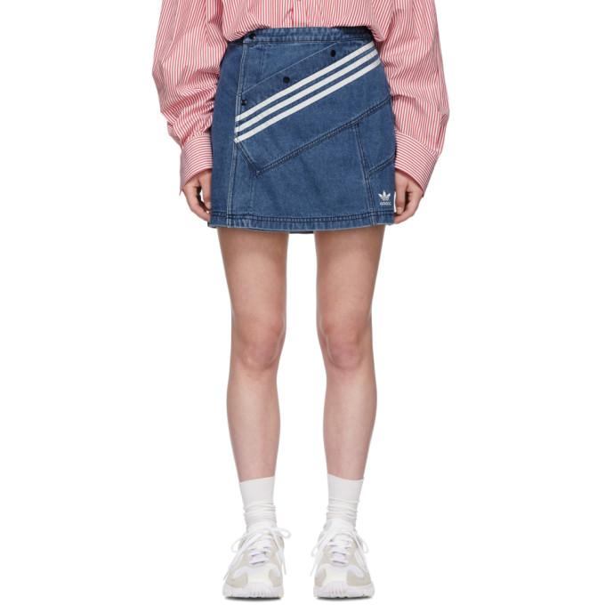 ADIDAS ORIGINALS BY DANIELLE CATHARI Adidas Originals By Danielle Cathari Blue Denim Miniskirt