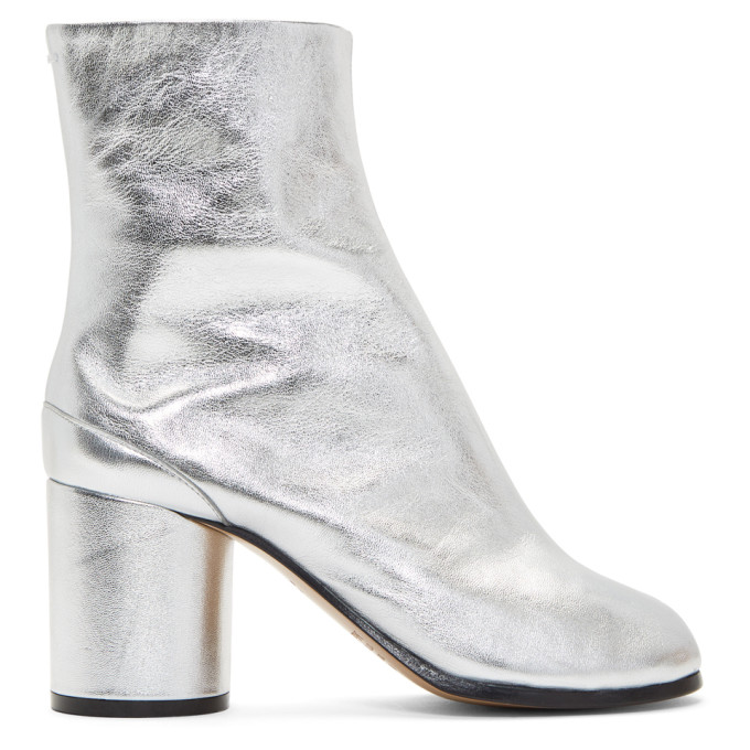 Maison Margiela Silver Metallic Tabi Boots