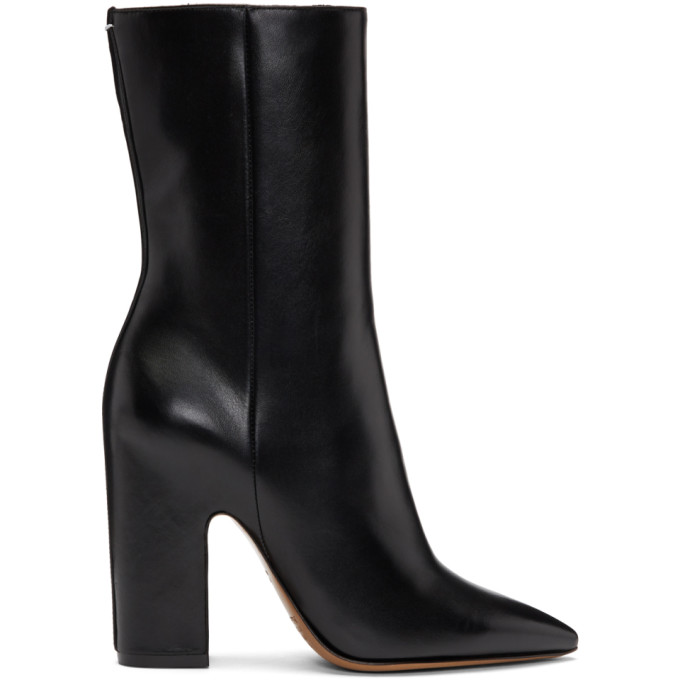 Maison Margiela Black Side Zip Calf Boots