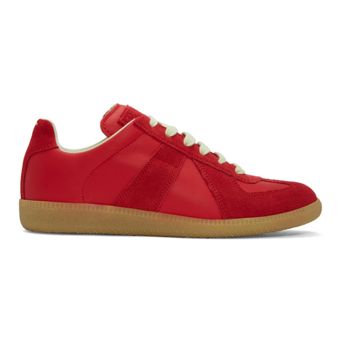 Maison Margiela SSENSE Exclusive Red Replica Sneakers