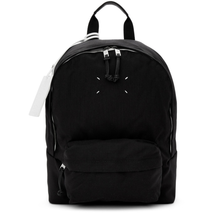 Maison Margiela Black Nylon Canvas Backpack