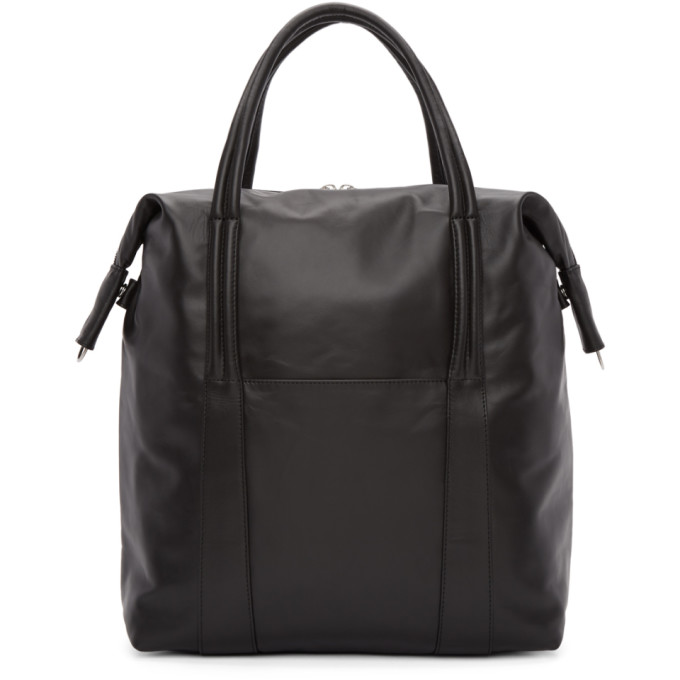 Maison Margiela Black Leather Shopper Tote