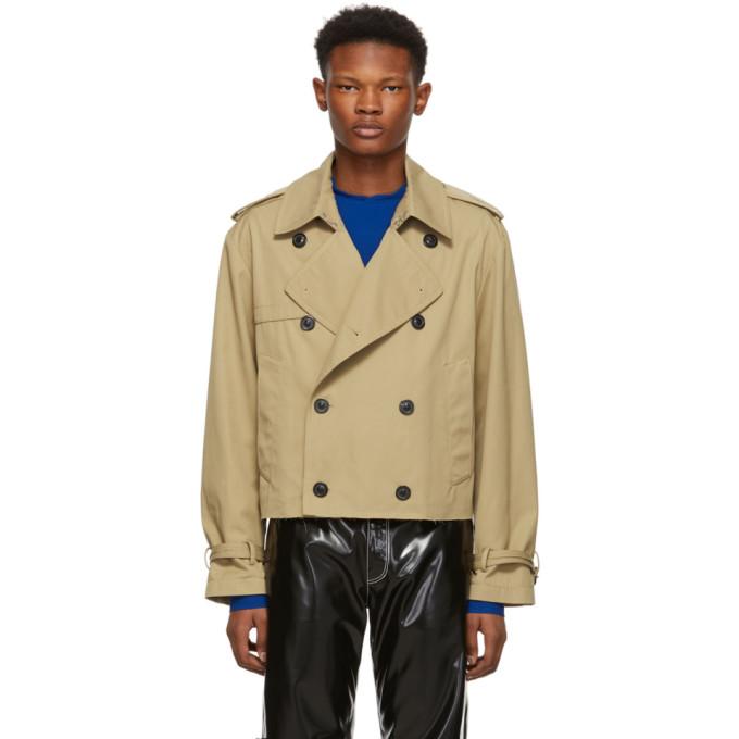 Image of Maison Margiela Beige Cropped Trench Jacket