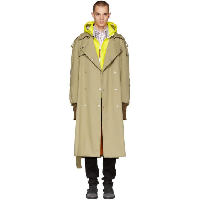 Maison Margiela ベージュ オーバーサイズ トレンチ コート