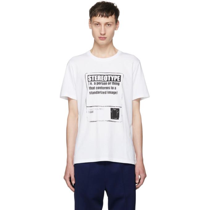 Maison Margiela ホワイト Stereotype T シャツ